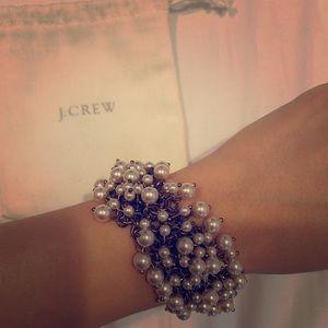 JCREW Pearl/Chain Bracelet